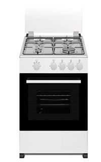 Akai 50 X 50 cm, 4 Gas Burner, Full Gas Cooker, White - CRMA-55SW