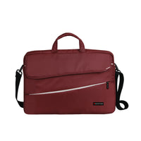 "Promate - Modern Styled Messenger bag for Laptops Upto 15.6"" for Macbook Pro, Dell, HP. Asus, Charlette- Red"