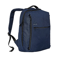 Promate - Laptop Backpack, Heavy-Duty Canvas Styled Durable Backpack with Multiple Storage, Quick Access Zipper and Secure Anti-Theft Design for Laptop, Document, Notebook, Travel, CityPack-BP Blue