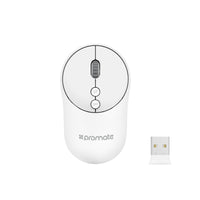 Promate - 2.4Ghz Wireless Mouse with USB Adapter One-Touch Show Desktop for Windows, Mac CLIX-2, White