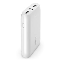 "Belkin BOOSTCHARGE USB-C Powerbank 10K - Powerful 15W Tablet and Smartphone Charger w/ cable included, for iPad Pro 11/12.9"" iPhone 11/11 Pro/11 ProMax/X/XS Max/8/8 SE, Google, Samsung, Huawei - White"