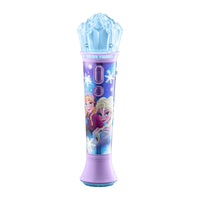 KIDdesigns Disney Frozen 2 Sing Along Karaoke Microphone for Kids, Built in Music, LED Flashing Lights, Pretend Mic, Kids Toy Portable Karaoke Machine, Connects MP3 Player Audio Device w/ Play Button
