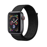 Promate - Sports Loop Band for Apple Watch 42mm/44mm, Premium Nylon Weave Mesh Band with Dense Loop and Adjustable Wrist Strap for Apple Watch Series 1,2,3 and 4, Workout, Fitness, Running, Fibro-42 Black