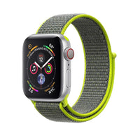 Promate - Sports Loop Band for Apple Watch 42mm/44mm, Premium Nylon Weave Mesh Band with Dense Loop and Adjustable Wrist Strap for Apple Watch Series 1,2,3 and 4, Workout, Fitness, Running, Fibro-42 Green