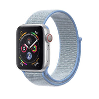 Promate - Sports Loop Band for Apple Watch 42mm/44mm, Premium Nylon Weave Mesh Band with Dense Loop and Adjustable Wrist Strap for Apple Watch Series 1,2,3 and 4, Workout, Fitness, Running, Fibro-42 Light Blue