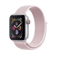Promate - Sports Loop Band for Apple Watch 42mm/44mm, Premium Nylon Weave Mesh Band with Dense Loop and Adjustable Wrist Strap for Apple Watch Series 1,2,3 and 4, Workout, Fitness, Running, Fibro-42 Light Pink