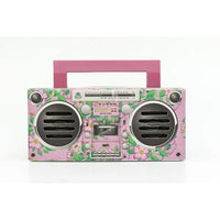 GPO Retro - Bronx Boombox Bluetooth Portable Speaker - Floral Pink