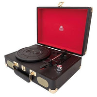 GPO Retro - Soho Vinyl Record Player + Built-in Speaker Black