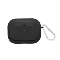 Promate AirPods Pro Case, Lightweight Impact-Resistant Electroplated TPU Slim-Fit Protective Cover with Wireless Charging Compatible, Anti-Slip and Scratch Resistant for Apple AirPods Pro, Gowy-Pro Black
