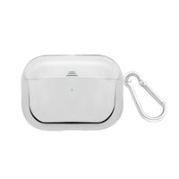 Promate AirPods Pro Case, Lightweight Impact-Resistant Electroplated TPU Slim-Fit Protective Cover with Wireless Charging Compatible, Anti-Slip and Scratch Resistant for Apple AirPods Pro, Gowy-Pro Silver