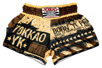 YOKKAO HUSTLE SHORTS GOLD