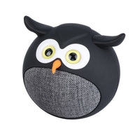 Promate - True Wireless Speaker, Portable Mini Owl Bluetooth v5.0 Animal 3W Speaker with Built-In Microphone and 400mAh Rechargeable Battery for Kids, Smartphones, Tablets, iPod, Hedwig Black