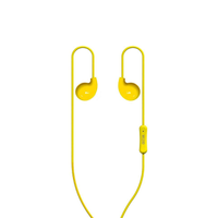 In-Ear Headphones with Mic Noise Canceling Headset for iPhone, Samsung, Huawei,HTC phones, laptops and computer YELLOW