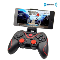 T3 Bluetooth Wireless Game Controller Gamepad Joystick for Smart Phones/Tablets/TVs/TV boxes-BLACK