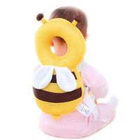 Baby Toddlers Head Protective, Adjustable Infant Safety Pad For Baby Walkers Protective Head and Shoulder Protector Prevent Head Injured Suitable Age 4-24 Months,Cute Bee-Yellow