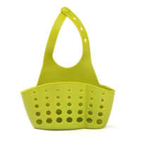 Kitchen Portable Hanging Drain Bag Drain shelf Basket Bath Storage Gadget Tools Sink Holder For kitchen-Green
