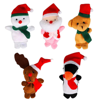 5-Piece Children Kids Babies Educational Story Christmas Santa Claus Deers Snowman Finger Puppet Doll Hand Toys Series Set