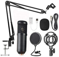 Professional Suspension Microphone Kit Studio Live Stream Broadcasting Recording Condenser Microphone Set