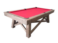 Knight Shot Imperial Handicraft Pool Table 8ft. In Antique Light Oak Finishing