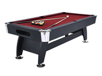 Knight Shot Noir Kids Use Billiard Table 7ft. Black Finishing Wooden Base W/ Red Cloth | Ball Return