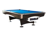 Knight Shot Spyder Commercial Pool Table 9ft. | Black With Ball Return System