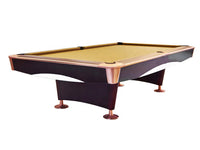 Knight Shot Spyder Commercial Pool Table 9ft. | Brown With Ball Return System