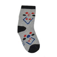 Kids Black & Grey Above Ankle-Length Cotton Socks