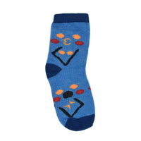 Kids Blue Above Ankle-Length Cotton Socks