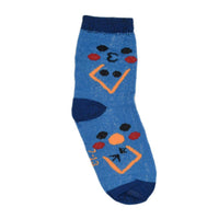 Kids Blue Patterned Above Ankle-Length Cotton Socks