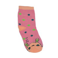 Kids Pink & Beige Above Ankle-Length Cotton Socks