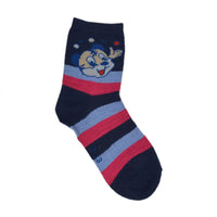 Kids Stripe Above Ankle-Length Cotton Socks