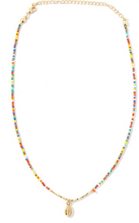 Lily Shell Choker Necklace - Multicolour