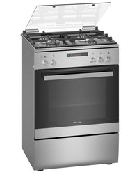 Siemens iQ300 Free-Standing Gas Cooker Stainless Steel HG2M30E50M