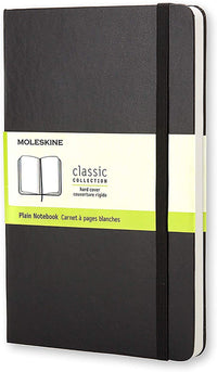 Moleskine - Classic Plain Paper Notebook - Hard Cover and Elastic Closure Journal - Color Black - Size Large 13 x 21 A5 - 240 Pages