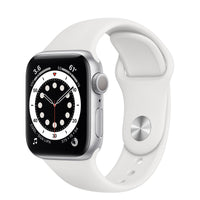 Apple Watch Series 6 Silver Aluminum Case with White Sport Band - Regular