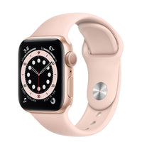 Apple Watch Series 6 Gold Aluminum Case with Pink Sand Sport Band - Regular