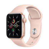 Apple Watch SE Gold Aluminum Case with Pink Sand Sport Band - Regular