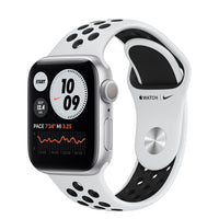 Apple Watch Nike Series 6 Silver Aluminum Case with Pure Platinum/Black Nike Sport Band - Regular