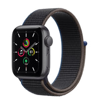 Apple Watch SE GPS + Cellular, Space Gray Aluminum Case with Charcoal Sport Loop