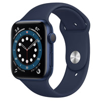 Apple Watch Series 6 Blue Aluminum Case with Deep Navy Sport Band - Regular
