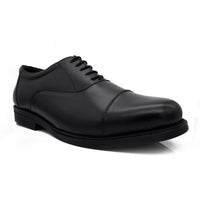 Men Plus Size Black Leather Formal Brogue