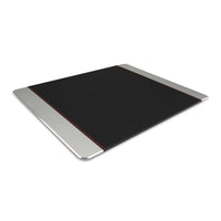 Promate - Mouse Pad, Premium Leather-Wrapped Anodized Aluminum Mouse Pad with Non-Slip Rubber Base for Fast Accurate Control and Large Working Area for Laptops, PC, Desktops, MetaPad-Pro Silver