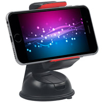 Promate - Car Holder, Car Mount Holder for Smartphone and GPS, Mount-2 Red