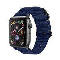 Promate - Nylon Apple Watch Band 42mm and 44mm, High-Quality Adjustable Woven Nylon Sport Strap Replacement with Quick Release Matte Steel Buckle and Sweatproof for Apple Watch Series 4/3/2/1, Nylox-42 Blue