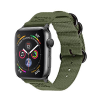 Promate - Nylon Apple Watch Band 42mm and 44mm, High-Quality Adjustable Woven Nylon Sport Strap Replacement with Quick Release Matte Steel Buckle and Sweatproof for Apple Watch Series 4/3/2/1, Nylox-42 Green