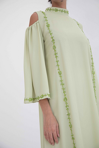 Fatima with Love - Mint Green Chiffon Kaftan