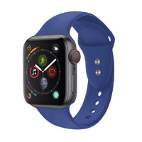 Promate - Sport Silicone Apple Watch 42mm/44mm Strap, Durable Sweatproof Silicone Replacement Wrist Strap with Secure Double Lock Pin and Adjustable Soft Band for Apple Watch Series 1,2,3 and 4 Small/Medium Size, Oryx-42SM Blue