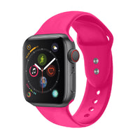 Promate - Sport Silicone Apple Watch 42mm/44mm Strap, Durable Sweatproof Silicone Replacement Wrist Strap with Secure Double Lock Pin and Adjustable Soft Band for Apple Watch Series 1,2,3 and 4 Small/Medium Size, Oryx-42SM Pink