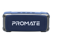 Promate Bluetooth Premium 6W HD Rugged Wireless Speaker with 4H Playtime, Built-in Mic, FM Radio, 3.5mm Aux Port, TF Card Slot & USB Media Port OutBeat Blue