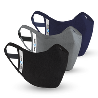 Case-Mate - Safe Mate Washable Cloth Mask - 3 pack - Black/Navy/Gray